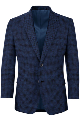 Navy Rose & Houndstooth Tux