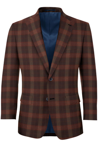Brown & Red Plaid Sport Coat