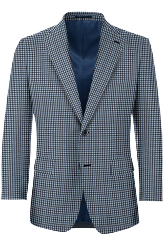 Navy Multi Check Sport Coat