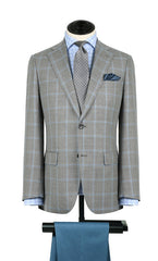 Grey w/ Light Blue Windowpane Sport Coat