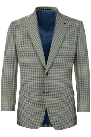 Navy, Blue & Grey Micro Check Sport Coat