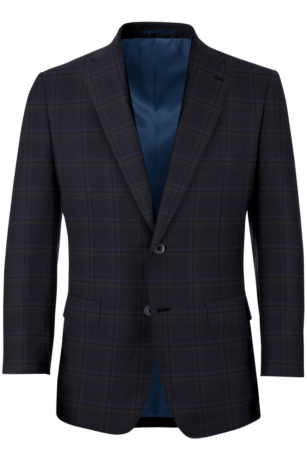 Navy, Lt. Blue & Brown Plaid