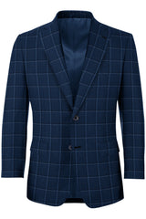 Sapphire Blue w/ Light Blue Window Pane Sport Coat