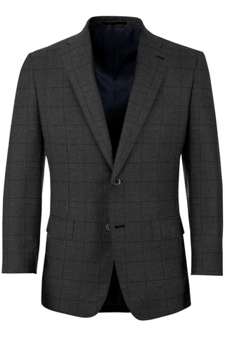 Taupe w/ Midnight Windowpane Sport Coat