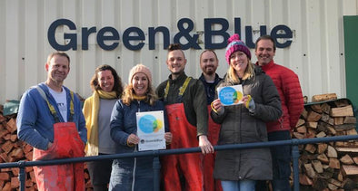 Green&Blue team living wage employer outside perranporth workshop