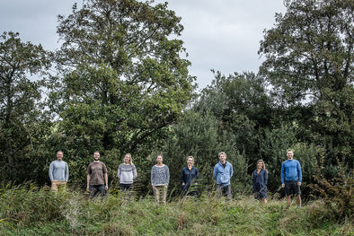 Green&Blue team in front of nature reserve cornwall