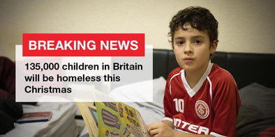 Shelter breaking news re homeless children at Christmas