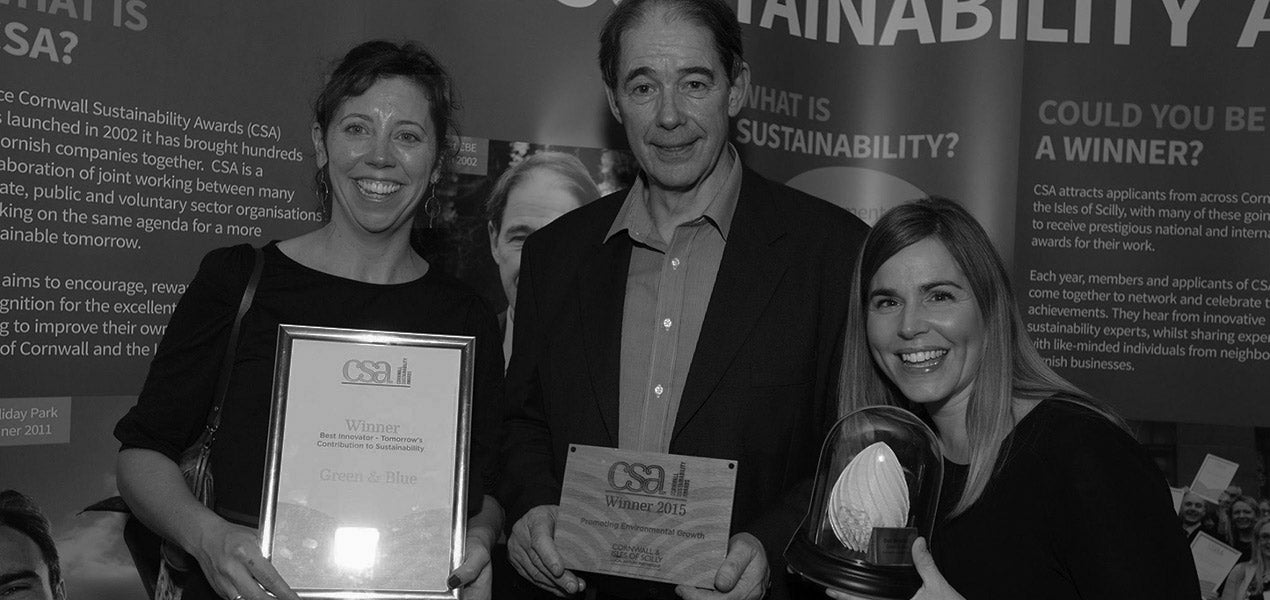 Faye and Kate from Green&Blue win Cornwall sustainability award