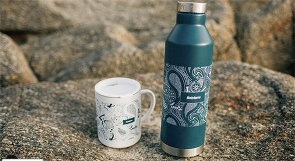 Finisterre and Mizu flask lifestyle photo for follow friday competition