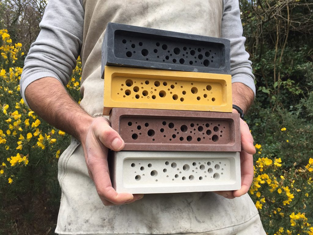 Gavin with bee bricks from Green&Blue
