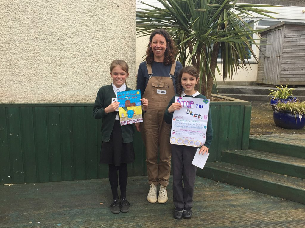 Perranporth litter pick poster competition winners