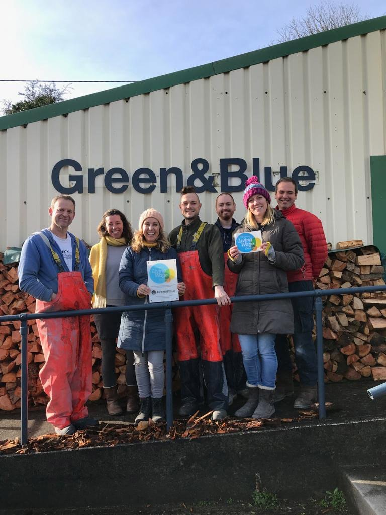 Green&Blue team becoming a living wage employer