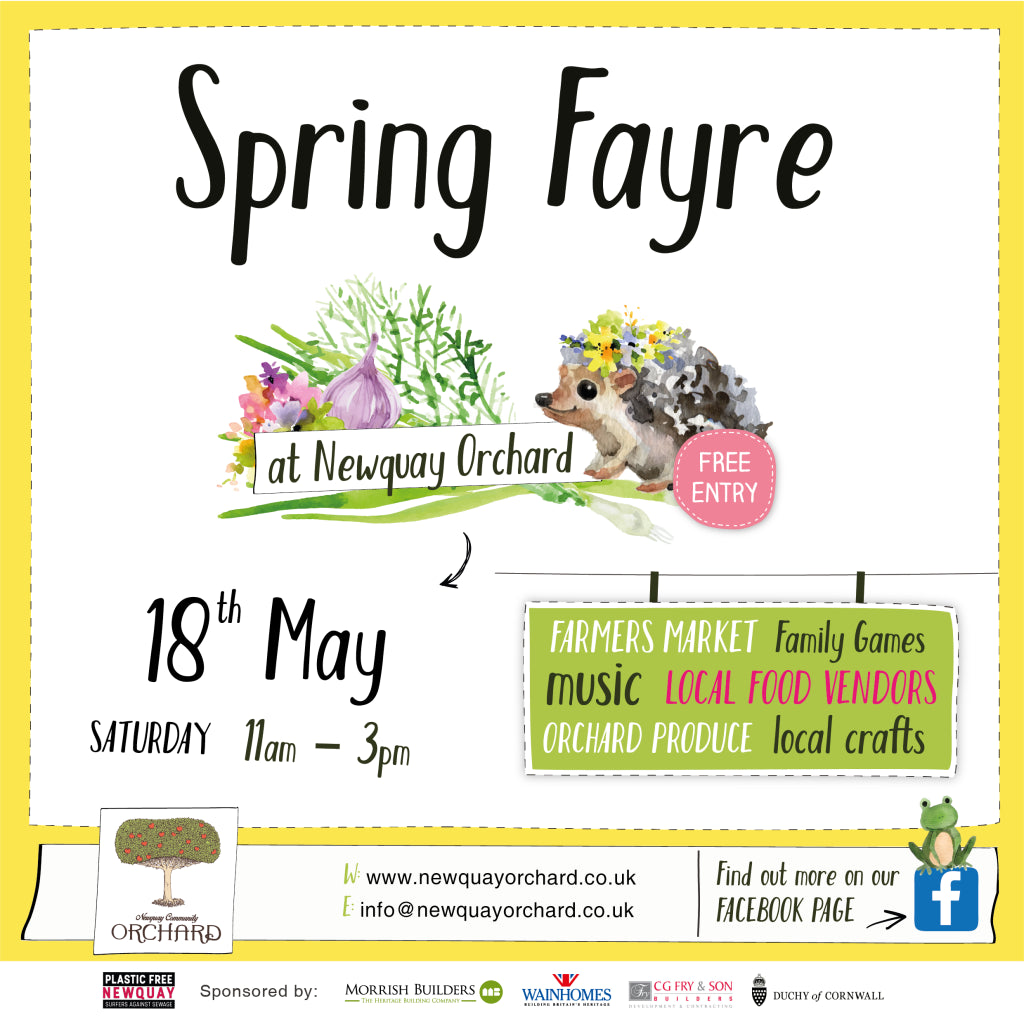 Newquay Orchard Spring Fayre flyer