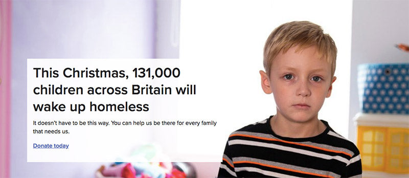 shelter christmas campaign boy and homelessness facts