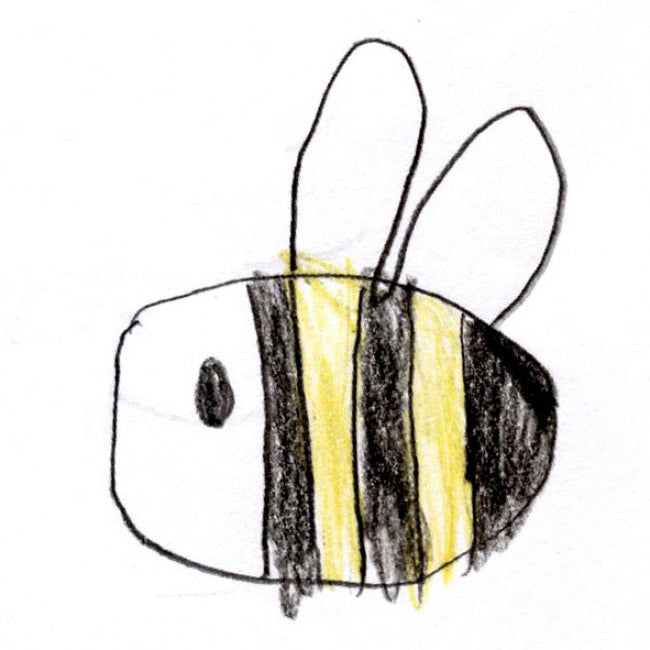 childs drawing of a bee