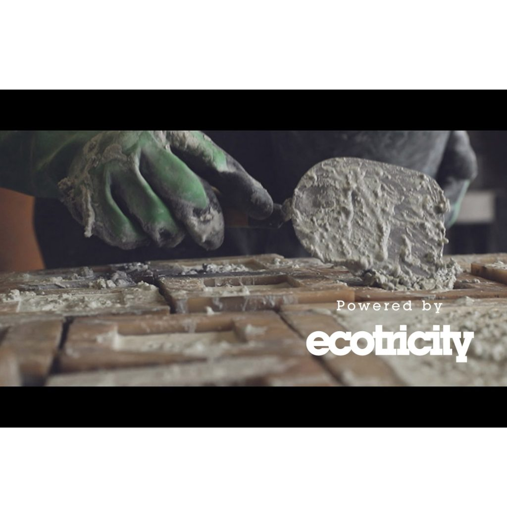 concrete manufacturing bee bricks powered by green energy