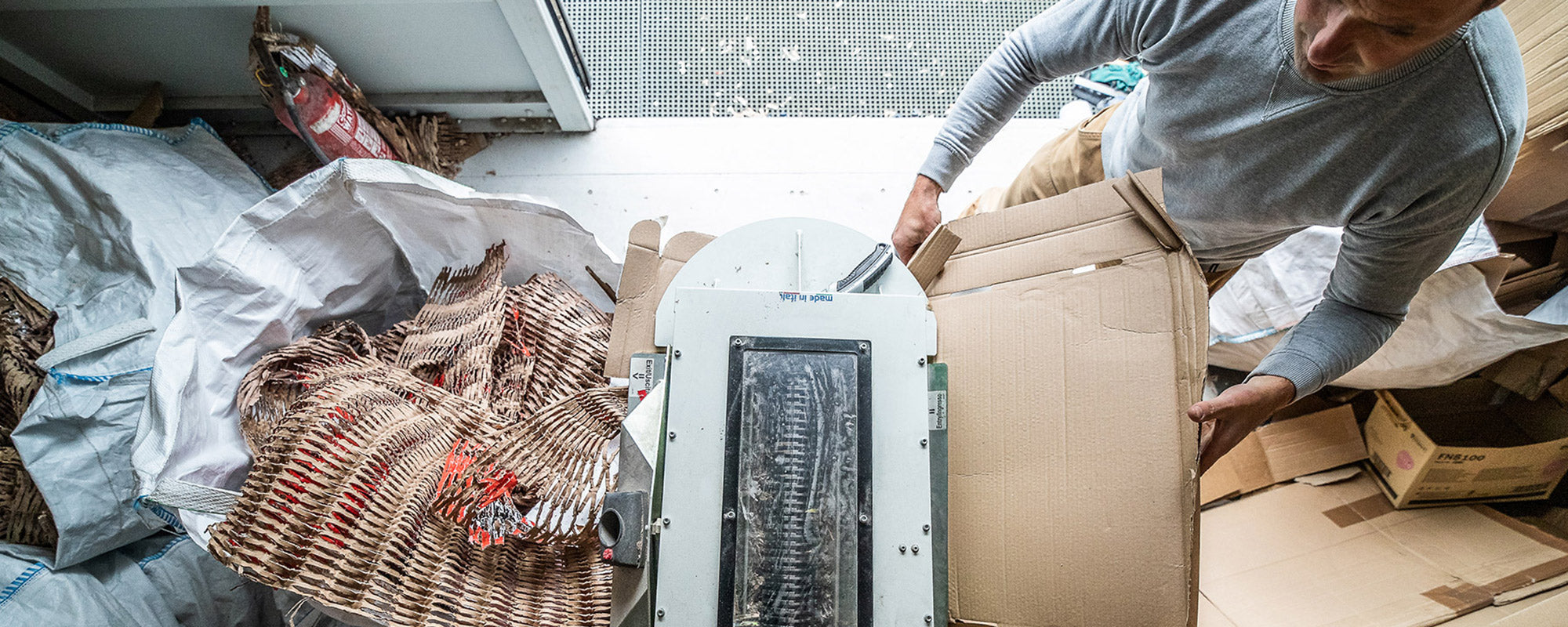 Shred project in action for environmental packaging