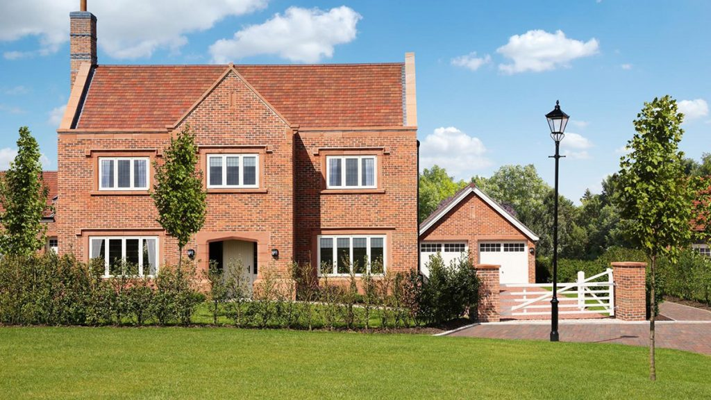redrow homes brick development house