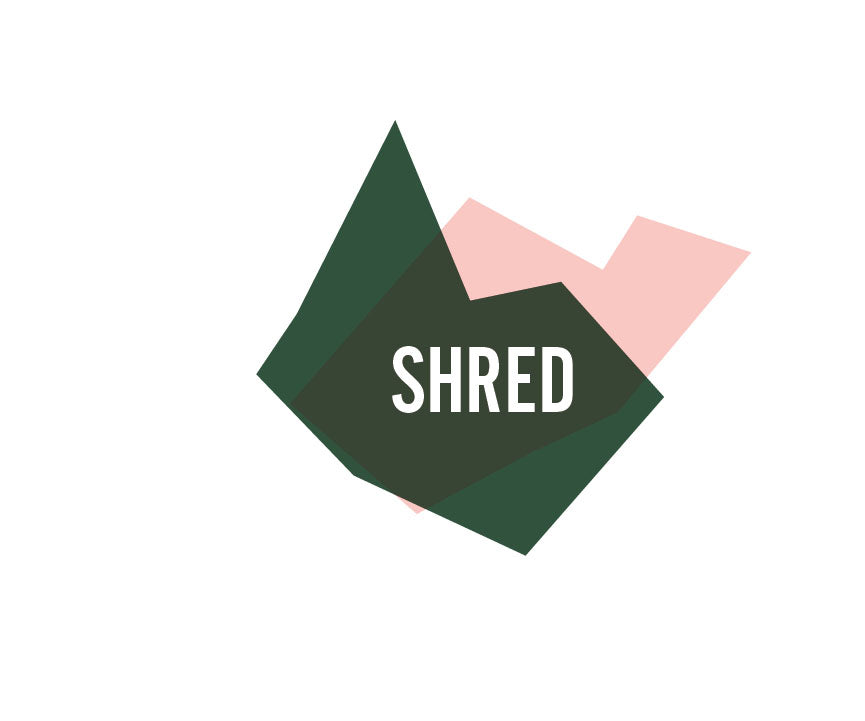 Shred logo rethinking packaging