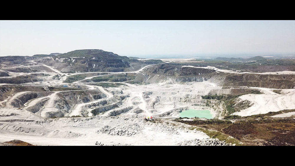cornish china clay pit in st austell