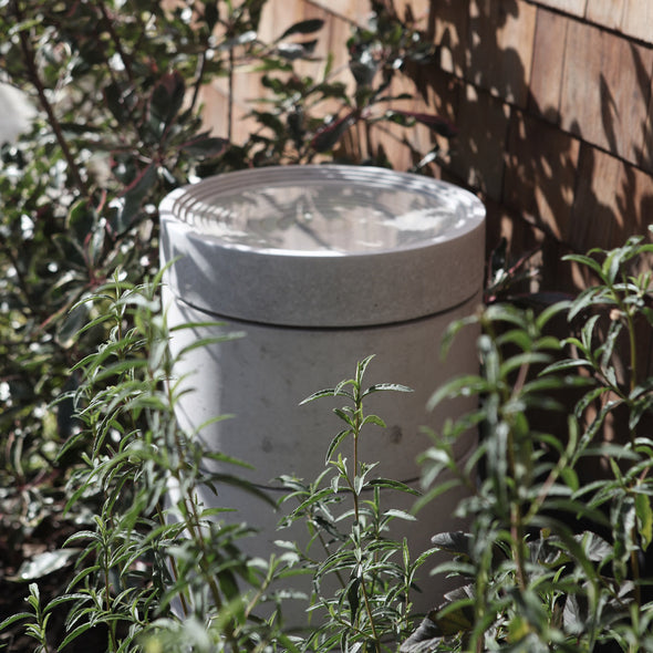 modern bird bath for contemporary garden