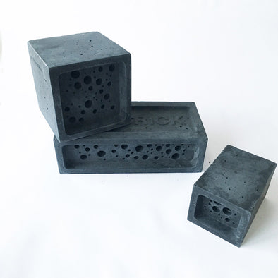 charcoal bee block bee hotel by green and blue
