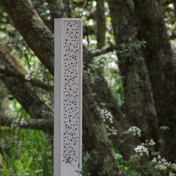 Bee Post in woodland stylish concrete