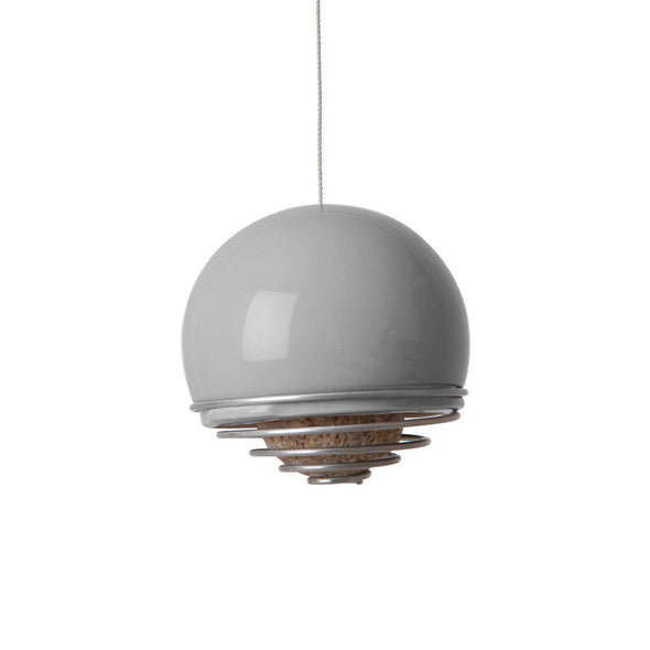 grey birdball bell birdfeeder by green and blue