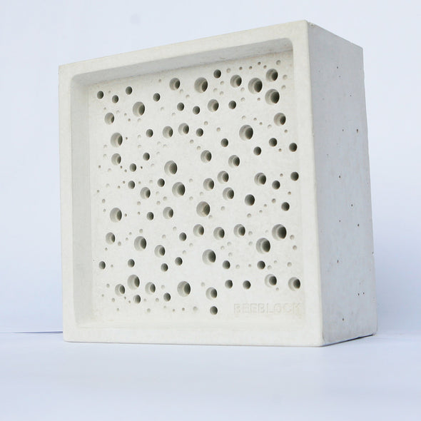 white background shot of large bees block