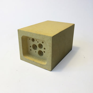 Small bee block bee hotel by green and blue