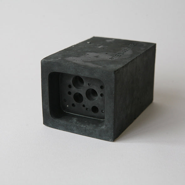 charcoal concrete small bee block bee hotel