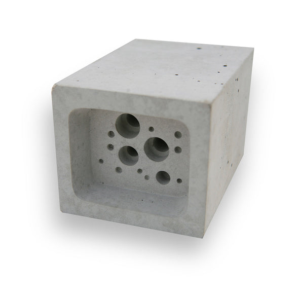 white concrete small bee block bee hotel