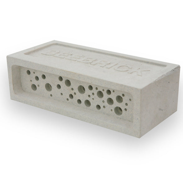 Bee Brick bee house in white concrete