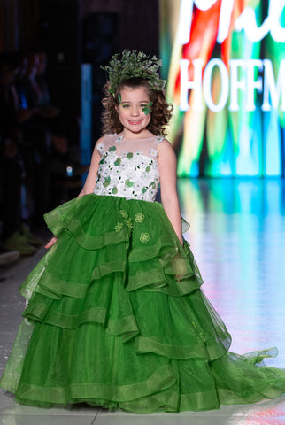 "Custom Gown ""Green Turaco"""