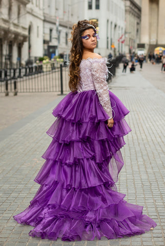 "Custom Gown ""Purple Martin"""