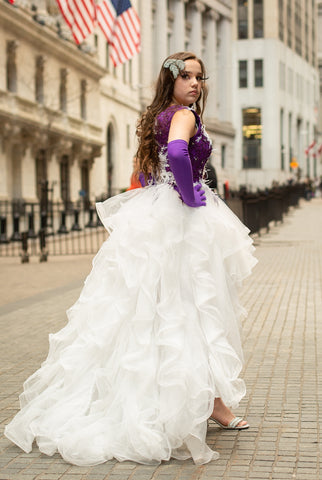 "Custom Gown ""Amethyst Starling"""