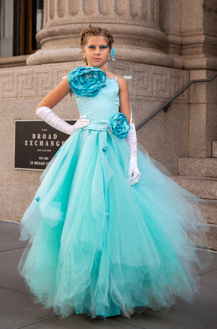 "Custom Gown ""Blue Fairy"""