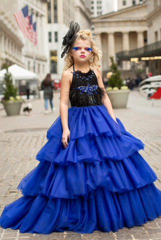 "Custom Gown ""Blue Martin"""