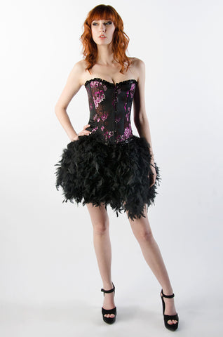 Plum Flowers and Feathers Dress