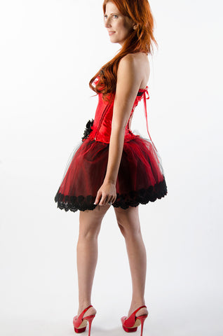 Size Small of Red and Black Roses Dress
