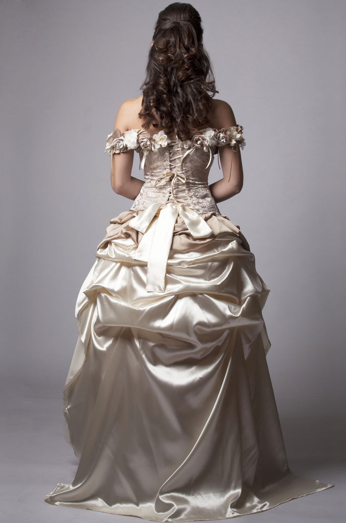 Steampunk Wedding Dress Vintage Inspired