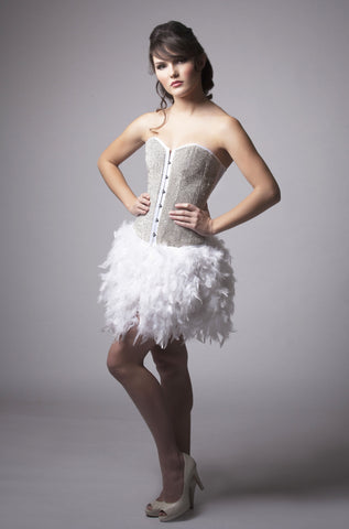 Crystal Corset Feather Dress