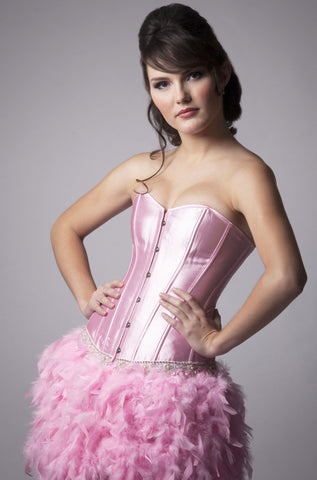 Pink Crystal Feather Dress