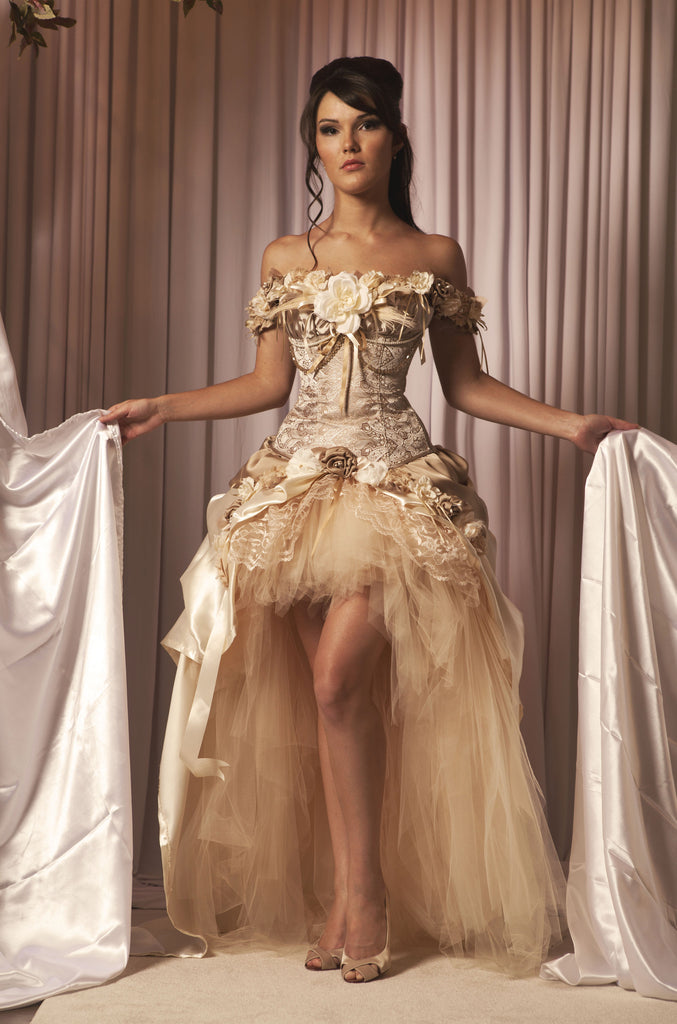Steampunk Wedding Dress Vintage-Inspired | Mila Hoffman Couture