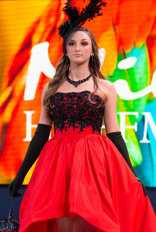 "Custom Gown ""Red Blackbird"""