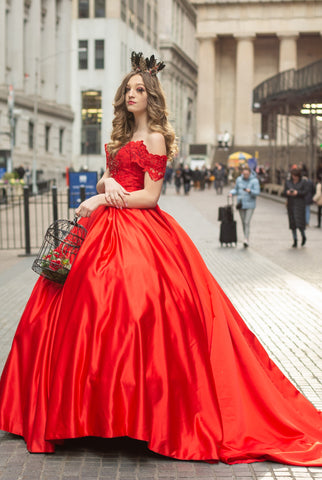 "Custom Gown ""Red Cardinal"""