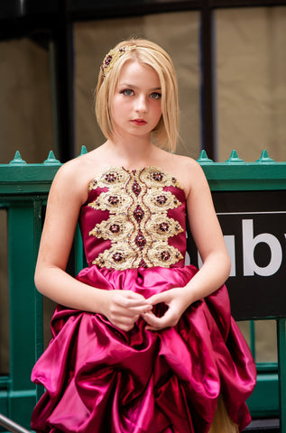 "Custom Gown ""Garnet Princess"""