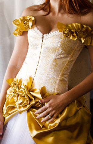 Size Small Golden Rose Dress
