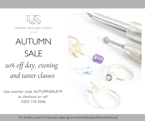 London Jewellery School autumn sale 2019