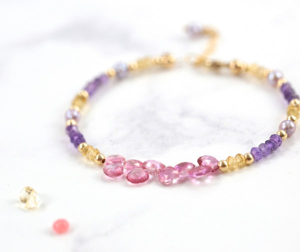 a hand beaded bracelet in the London Jewellery School 10th birthday celebration post